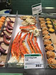 fresh king crab legs at whole foods market new york flickr