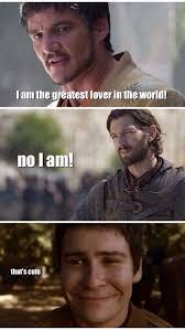 Meme Pictures With Captions - prince oberyn daario naharis podrick game of thrones funny