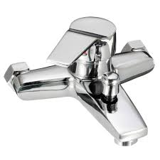 aliexpress com buy wall mounted bathroom faucet bath tub mixer aliexpress com buy wall mounted bathroom faucet bath tub mixer tap shower faucet chrome finish thermostatic shower mixer hot cold water from reliable