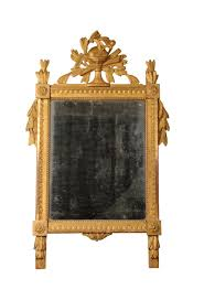 giltwood mirror with the original mercury plate louis xvi