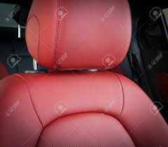 pink car interior modern sport car red leather interior stock photo picture and