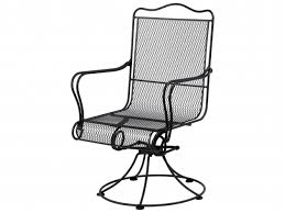 Wrought Iron Swivel Patio Chairs Woodard Tucson Wrought Iron High Back Swivel Rocker Patio Chairs