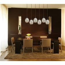 hanging dining table lights above contemporary room ceiling over