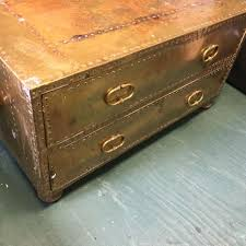 brass trunk coffee table find more 2 drawer brass chest or coffee table by sarreid ltd made