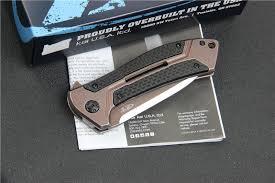 zt 0801 cf ball bearing folding knife d2 steel carbon fiber