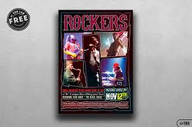 template for flyer free rock concert free flyer thats design store