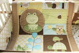 Frog Crib Bedding Ups Free 9 Pieces Baby Crib Bedding Set Frog Turtle Newborn Bed