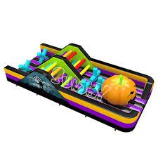 118 u0027 large halloween inflatable obstacle course new design sj
