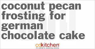 coconut pecan frosting for german chocolate cake recipe