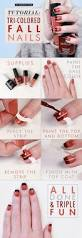 manicure monday tri colored fall nails manicure tutorials and
