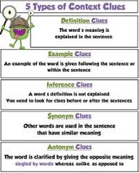 look around meaning in context context clues worksheets
