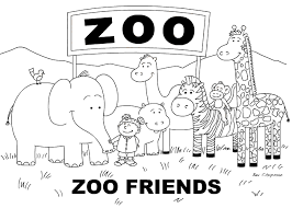 Zoo Coloring Pages Preschool | coloring pages great for nursery pre k or kindergarten students