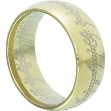 the one ring wedding band ring lotr gold tungsten wedding band 9mm