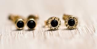 gold stud earrings black onyx stud earrings in 14k yellow gold solid 14k gold