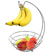 fruit basket stand countertop wire fruit basket stand with banana hanger