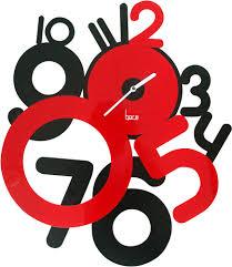 Horloge Murale Rouge by Horloge Contemporaine Freaky