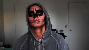 Halloween Makeup Ideas For Guys by Halloween Men Makeup Natural Skull Youtube