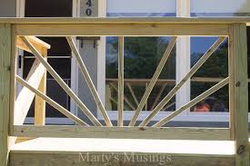How To Build A Banister Sunburst Deck Railing