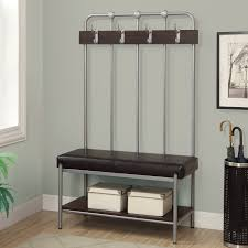 furniture amazing silver metal entry bench two beige steel chest