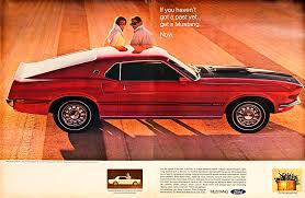 ford mustang ad 1969 ford mustang mach 1 car ad e180 photograph by wendell franks