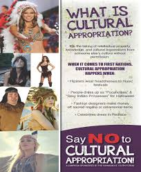 say no to cultural appropriation campaign