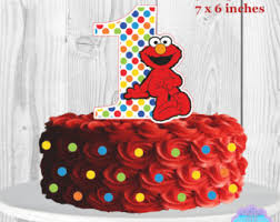 elmo cake topper custom printable sesame elmo by partipartieparty on etsy