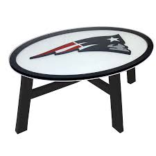 shop fan creations new england patriots birch oval coffee table at
