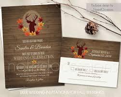 deer wedding invitation set rustic fall wedding invitations