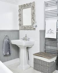 Boutique Bathroom Ideas White And Grey Boutique Hotel Style Bathroom With Ornate Mirror