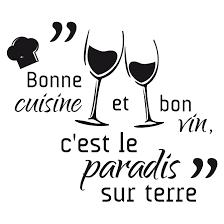 cuisine et vin stickers bonne cuisine et bon vin stickers malin