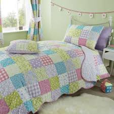 ditsy patchwork duvet cover and pillowcase set bed linen