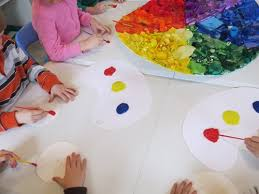 lesson color mixing teach preschool
