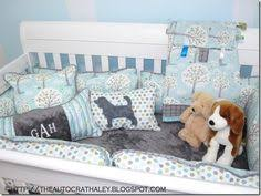 Puppy Crib Bedding Sets Blue Days Custom 4 Crib Bedding Set Blue Days