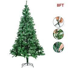 15 8ft tree pre lit outdoor contemporary twig