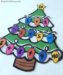 simple christmas tree number sense activity