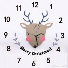 3d pvc wall sticker cartoon christmas deer quartz clock for 3d pvc wall sticker cartoon christmas deer quartz clock for children room festival decoration wall decals merry christmas large wall clocks for kitchens