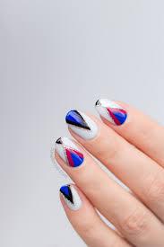 experimental geometric nail design feat kester black spring 2017