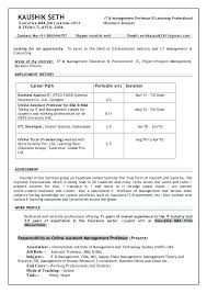 Mis Resume Example Sample Resume Of Assistant Professor Agriculture Resume Sample