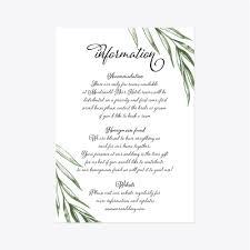 Wedding Invitation Information Card Wedding Information Cards Wedding Details Card Wedding Insert