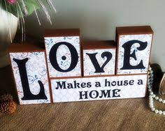 Word Blocks Home Decor Last Name Blocks Anniversary Gift Mantle Centerpiece Mother U0027s