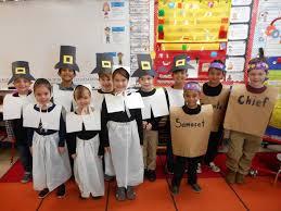 preschool place kindergarten performs thanksgiving skit