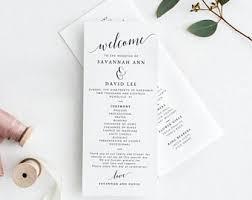 program for wedding ceremony wedding programs etsy