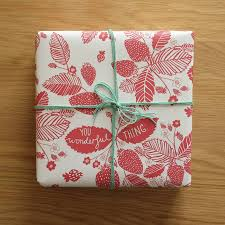 recycled wrapping paper recycled strawberry wrapping paper by cole design