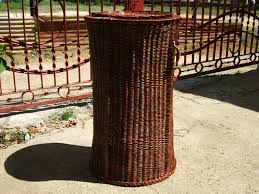 Wicker Clothes Hamper With Lid Custom Made Wicker Baskets And Furniture Made In Jamaica