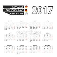 Kalender 2018 Helgdagar Enkel Kalender 2017 Med Helgdagar För Tyskland Stock Vektor