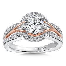 platinum halo engagement rings caro74 halo engagement ring mounting in 14k white