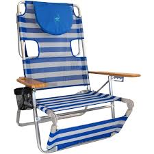 Rio Sand Chairs Ostrich 3n1 Beach Chair Blue White Stripe Beach Chairs