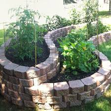 home depot landscaping stones stone raised vegetable garden bed in