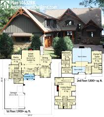 House Plans With Media Room Plan 14632rk Rugged Craftsman With Room Over Garage Craftsman