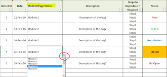 Issue Tracking Excel Template Free Bug Tracking Template